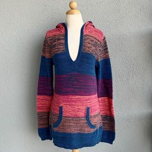 ROXY Hooded Knitted Sweater Size L